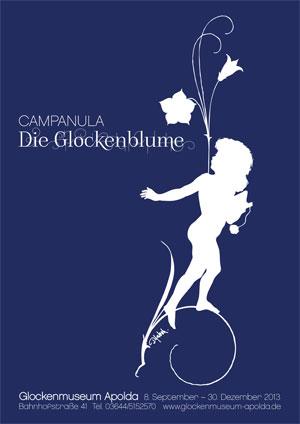 Plakat Sonderausstellung Campanula - Die Glockenblume 8.9.-30-12.2013